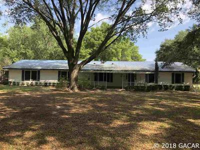 Newberry Single Family Home For Sale: 103 NW 298th Avenue