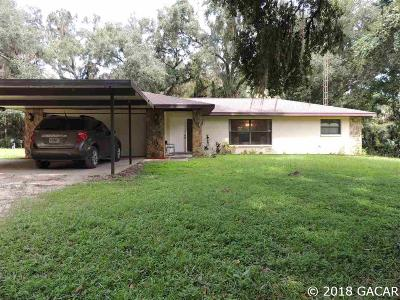 Micanopy Single Family Home For Sale: 1406 SE Wacahoota Road