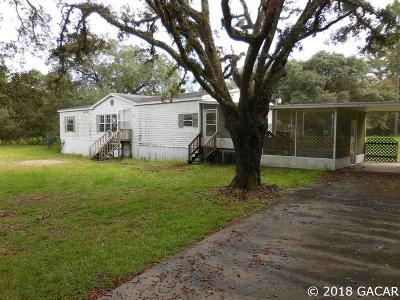 Williston FL Single Family Home For Sale: $64,900