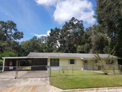 Gainesville FL Single Family Home For Sale: $90,000