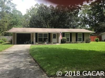Gainesville FL Single Family Home For Sale: $139,707