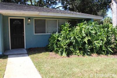 Gainesville FL Condo/Townhouse For Sale: $86,900