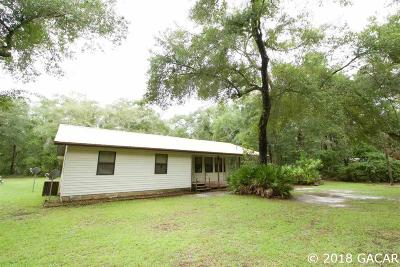 Chiefland Single Family Home For Sale: 12610 NW 117th Avenue