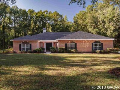 Alachua Single Family Home For Sale: 15713 NW 58TH Avenue