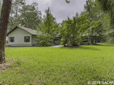 Gainesville Single Family Home For Sale: 9111 NW 62ND Lane