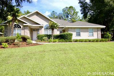 Alachua Single Family Home For Sale: 10511 NW 60TH Terrace