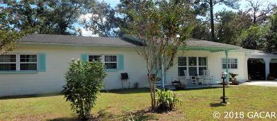 Gainesville FL Single Family Home For Sale: $244,500