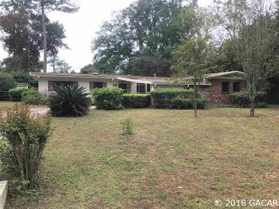 Gainesville Single Family Home For Sale: 3703 NW 22nd Place