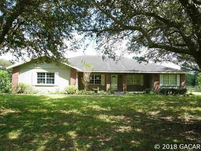 Alachua Single Family Home For Sale: 13401 NW 173rd Street