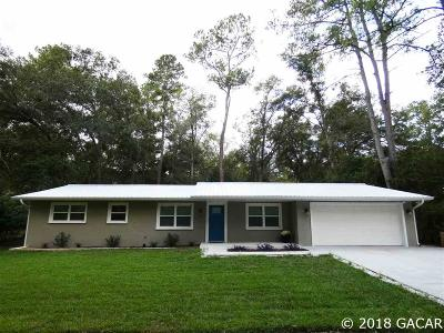 Gainesville Single Family Home For Sale: 304 NW 122nd Street