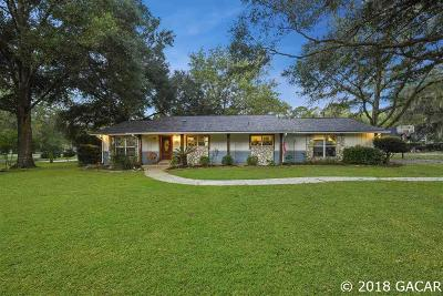 Alachua Single Family Home For Sale: 11606 NW 72ND Terrace
