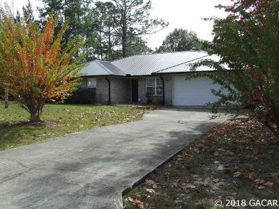 High Springs Single Family Home For Sale: 5119 NE 52ND Place