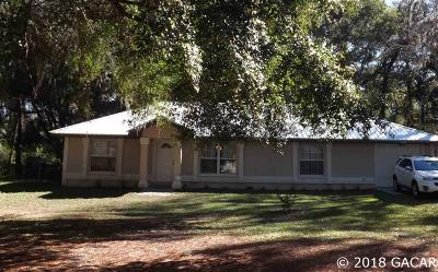 High Springs Single Family Home For Sale: 24109 NW 196 Terrace