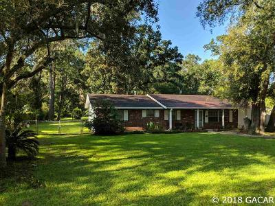 Gainesville Single Family Home For Sale: 3461 NW 34TH Place