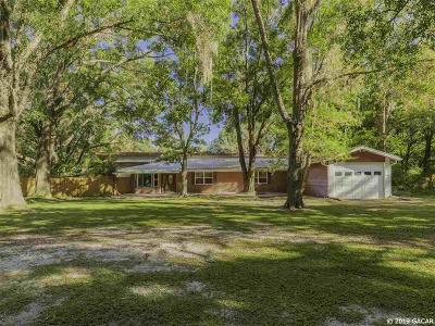 Newberry Single Family Home For Sale: 2601 SW 186 Street