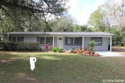 Gainesville Single Family Home For Sale: 2304 NW 47TH Terrace