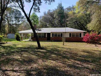 High Springs Single Family Home For Sale: 7950 NE 35 Avenue