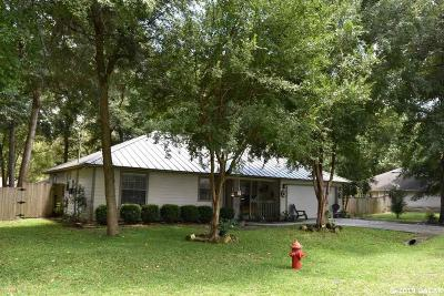 High Springs Single Family Home For Sale: 17687 NW 238 Street