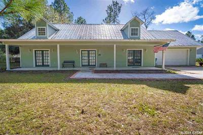 Alachua Single Family Home For Sale: 17957 NW 175TH Avenue