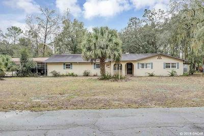 Chiefland Single Family Home For Sale: 9350 NW 114TH Street