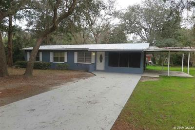 Gainesville FL Single Family Home For Sale: $89,900