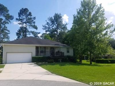 Alachua Single Family Home For Sale: 6913 NW 107th Lane