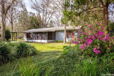 Alachua Single Family Home For Sale: 7228 NW 126TH Avenue