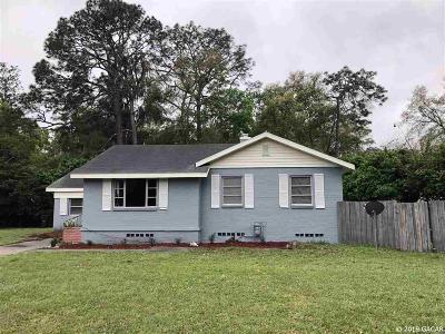 Gainesville Single Family Home For Sale: 1334 NE 9TH Street