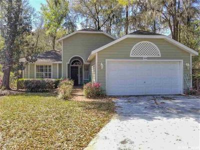 Newberry Single Family Home For Sale: 1040 NW 123rd Way