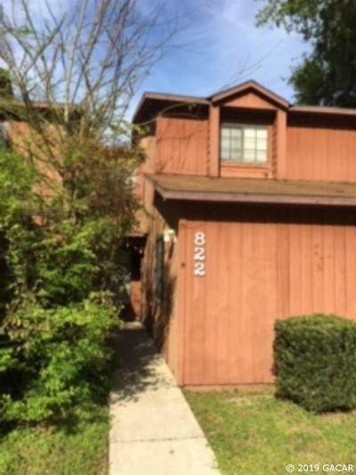 Gainesville Condo/Townhouse For Sale: 822 SW 58th Terrace