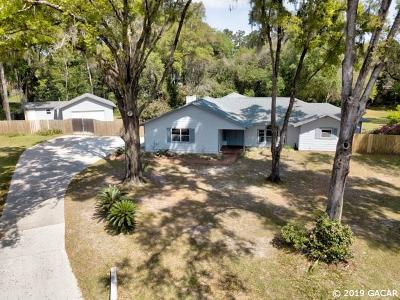 Gainesville Single Family Home For Sale: 3707 SW 80 Drive