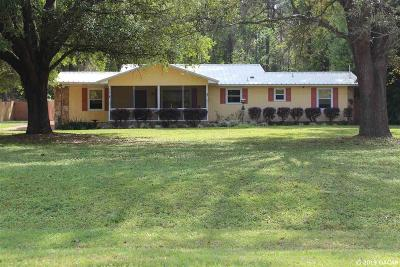 Alachua Single Family Home For Sale: 15901 NW 118 Place