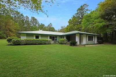 Gainesville Single Family Home For Sale: 13629 NW 60TH Place