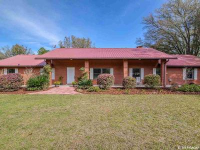 Newberry Single Family Home For Sale: 12630 SW 14th Avenue