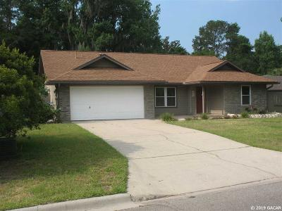 Gainesville Single Family Home For Sale: 6119 NW 43RD Avenue