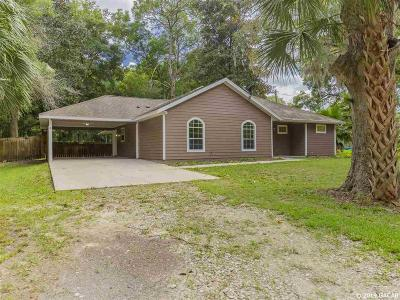Newberry Single Family Home For Sale: 26433 NW 1st Avenue