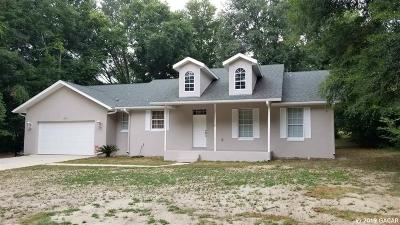 Williston FL Single Family Home For Sale: $180,000