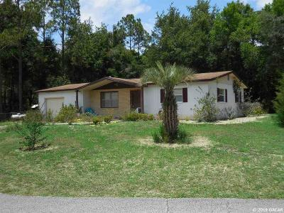 Williston FL Single Family Home Pending: $79,500