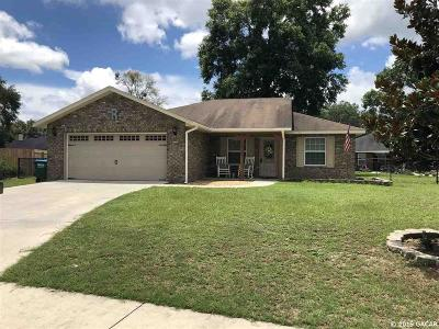 Newberry Single Family Home For Sale: 25139 SW 20 Avenue