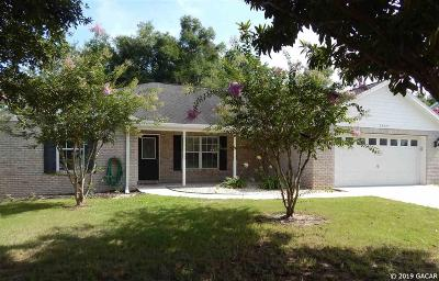 Newberry Single Family Home For Sale: 25577 SW 22ND Place