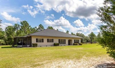 Newberry Single Family Home For Sale: 10014 SW 282ND Street