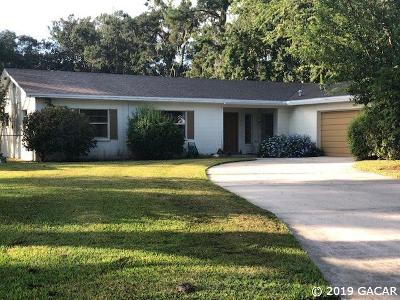 Gainesville Single Family Home For Sale: 4511 NW 17 Place