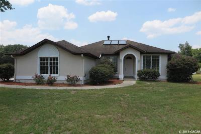 Alachua Single Family Home For Sale: 24208 NW 78TH Avenue