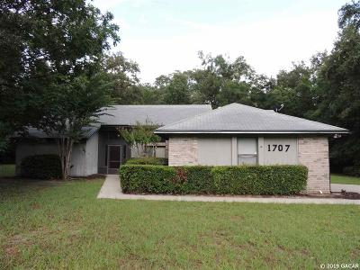 Gainesville Single Family Home For Sale: 1707 SW 122 Street