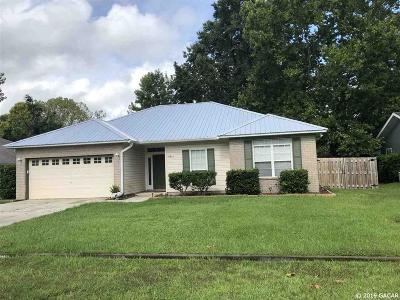 Alachua Single Family Home For Sale: 11032 NW 60th Terrace