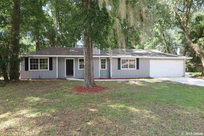 Gainesville Single Family Home For Sale: 5401 NW 25TH Place