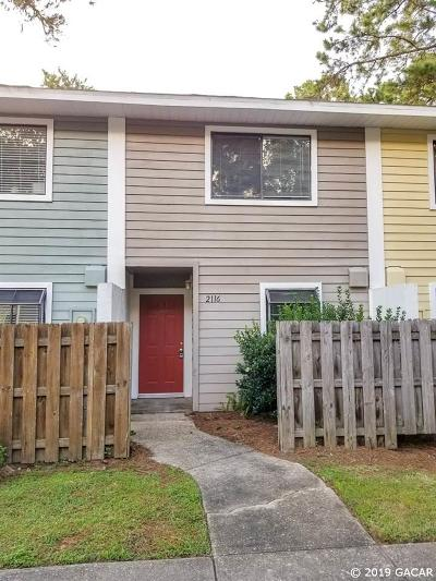 Gainesville Condo/Townhouse For Sale: 2116 SW 39th Drive