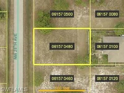 Cape Coral Residential Lots & Land For Sale: 2825 NW 28th Ave