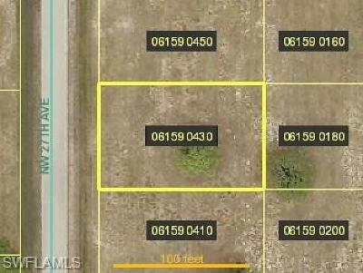Cape Coral Residential Lots & Land For Sale: 2809 NW 27th Ave