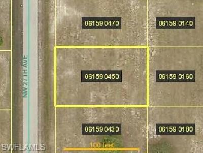 Cape Coral Residential Lots & Land For Sale: 2813 NW 27th Ave